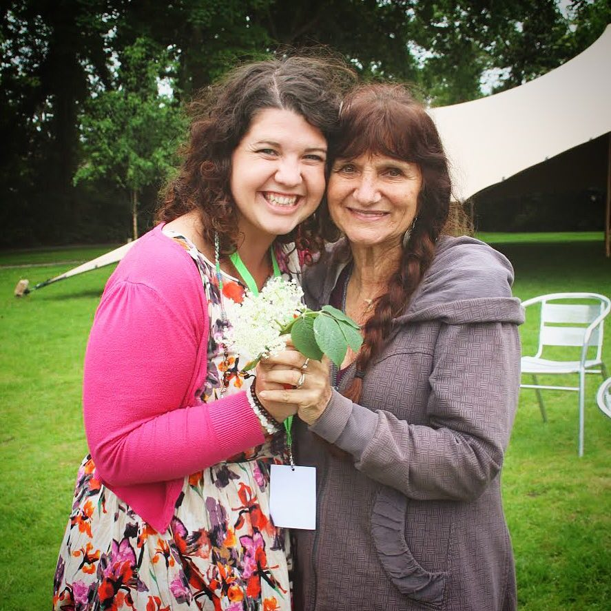 Siobhan with Rosemary Gladstar at Herbfest